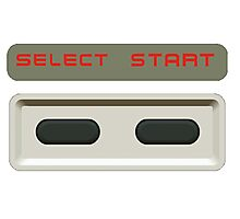 Select Start buttons NES controller pad. Photographic Print
