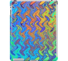 Color Pattern of Abstract Blue and Lilac iPad Case/Skin