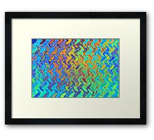 Color Pattern of Abstract Blue and Lilac Framed Print