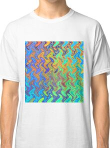Color Pattern of Abstract Blue and Lilac Classic T-Shirt
