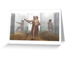 Chambre aux miroirs_4 / Bedroom mirror_4 Greeting Card