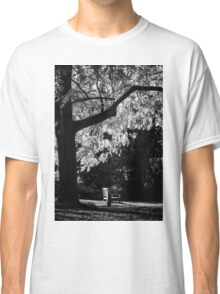Monochrome Bench Under the Tree Classic T-Shirt