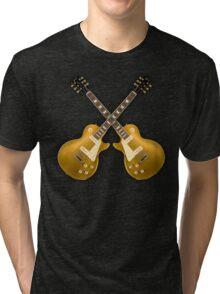 Double Gibson Les Paul Goldtop Tri-blend T-Shirt