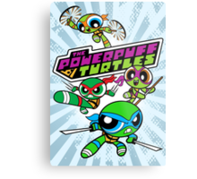 The Powerpuff Turtles Metal Print