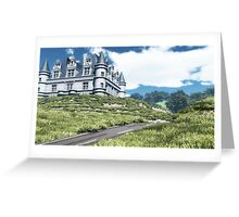La route du château /The road to the castle Greeting Card