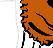 Mitt. Baseball glove. Sticker