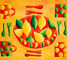 Lemons and Limes (Yellow) by Julie Nicholls