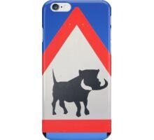 Warthog Warning Sign - Hogs About iPhone Case/Skin