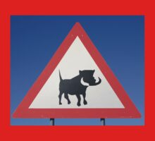 Warthog Warning Sign - Hogs About Kids Clothes