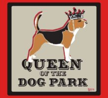 Beagle Queen of the Dog Park  One Piece - Short Sleeve