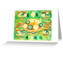 Lemons and Limes with Bowls Greeting Card