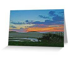 Just Another Good Harbor Sunrise Greeting Card
