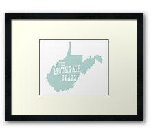West Virginia State Motto Slogan Framed Print