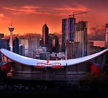 Calgary Skyline at Dusk by John Poon
