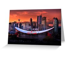 Calgary Skyline at Dusk Greeting Card