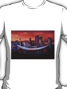Calgary Skyline at Dusk T-Shirt