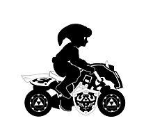 Mario Kart 8 - Master Cycle Silhouette  Photographic Print