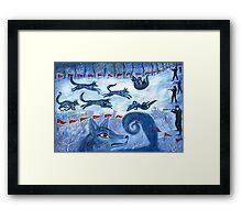 Hunting the wolf- Охота на волков Framed Print