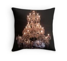 Ornate chandelier Throw Pillow