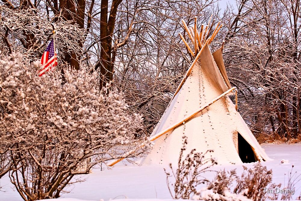 Native American ~ Winter Camp by Tim Denny