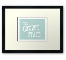 Wyoming State Motto Slogan Framed Print