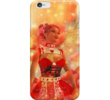 Valentine background with cupid 2 iPhone Case/Skin