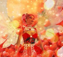 Valentine background with cupid 2 by AnnArtshock