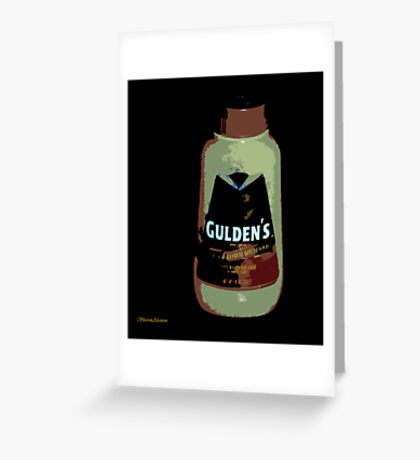 SPICY BROWN Greeting Card