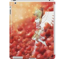 Valentine background with cupid 4 iPad Case/Skin