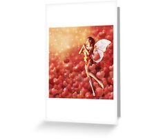 Valentine background with fairy Greeting Card