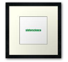 Sinforscience Framed Print