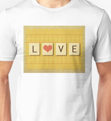 Valentine love tiles 2 Unisex T-Shirt