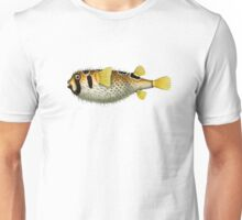 antique typographic vintage puffer fish Unisex T-Shirt