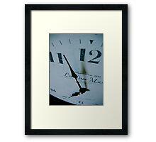 As if time stood still... Framed Print