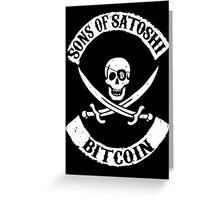 Sons of Satoshi Bitcoin Geek Greeting Card