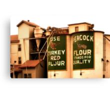 Peacock Flour Canvas Print