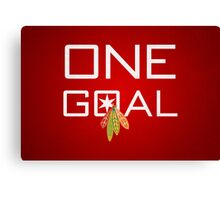 One Goal Canvas Print