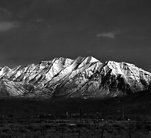 Mount Timpanogos-Black & White by Ryan Houston