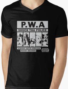 Shuck Tha Police Mens V-Neck T-Shirt