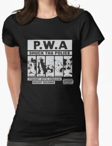 Shuck Tha Police Womens Fitted T-Shirt