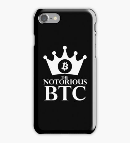 Notorious Bitcoin - King Of Money iPhone Case/Skin