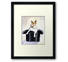Reggie in a Top Hat Framed Print