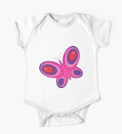 Abstract colorful butterfly 3 One Piece - Short Sleeve