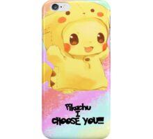 Pikachu i choose you!  iPhone Case/Skin