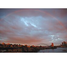 A Bit Of Help From  Above  - Sydney Harbour Rainbow Photographic Print