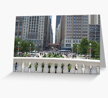 Down Town Chicago Greeting Card