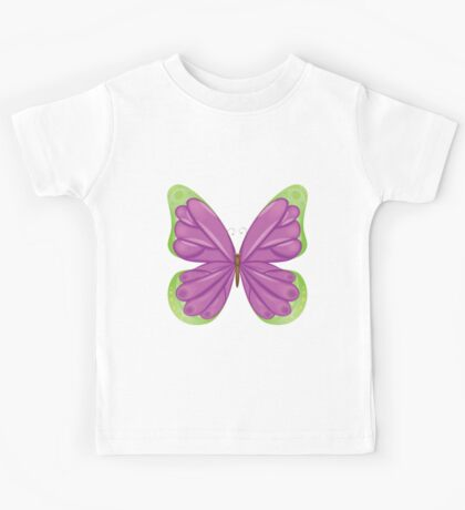Abstract colorful butterfly 5 Kids Tee