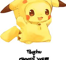 Pikachu i choose you!  with out background  by Ksaourious1
