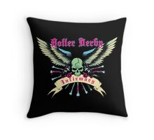 Roller Derby Infirmary (Now In Full Color!) Throw Pillow