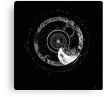 Fragmented Astrology Lapse Black Canvas Print
